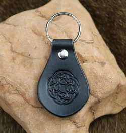 CELTIC KNOT, Leather Keychain black