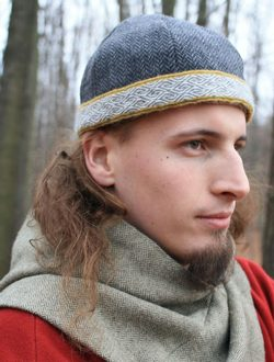 Viking Cap with Rigid Woven Heddle Belt, Birka