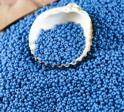 Czech Rocaille Seed Beads opaque Turquoise Blue 10/0