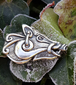 Celtic Boar - head, silver pendant