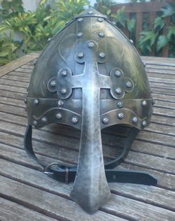 NORMANHELMET WITH CROSS NASAL, collectible quality