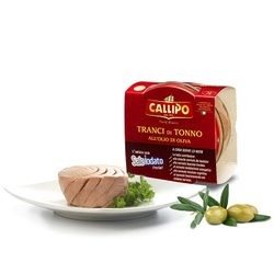 Tuna in olive oil 160 g (glass) - Callipo