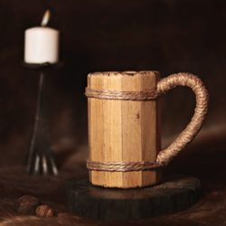 Wooden Tankard, oak