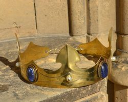 CAROLUS, noble medieval brass crown, sodalite