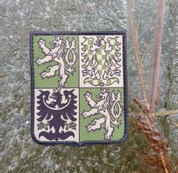 CZECH REPUBLIC - coat of arms, Velcro Patch green