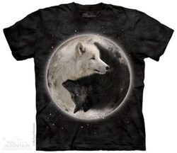 Yin Yang Wolves,  Animal T-Shirt The Mountain