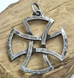 TEMPLAR CROSS, forged pendant