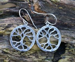 YGGDRASIL, Tree earrings, silver