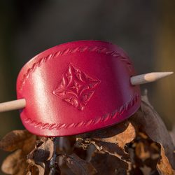 NAPOLI, leather Hair Clip, red