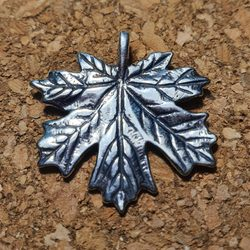 Maple Leaf, silver pendant