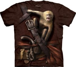 Pirate with Howler Monkey, T-Shirt, The Mountain