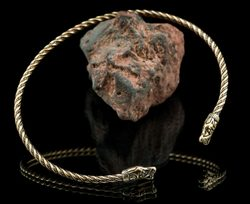 BEAST from GOTLAND,  viking torques - bronze