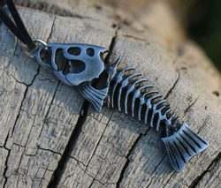 FISHBONE, Fish, Pewter Pendant