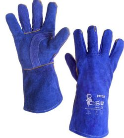 WELDING GLOVES, blue, size 11