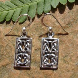 RECTANGULUM, silver earrings, Ag 925