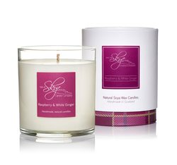 Raspberry and White Ginger Candle Tumbler