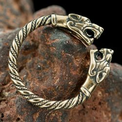 FENRIR, bronze viking ring