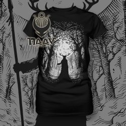 HERNE, The Guardian of the Forest, T-Shirt ladies black/white