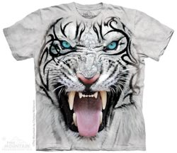 Big Face Tribal White Tiger, T-Shirt, The Mountain