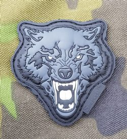 ANGRY WOLF, 3D rubber patch