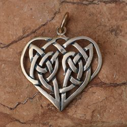 CELTIC HEART Pendant, Bronze