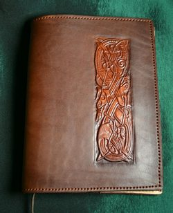LEATHER BOOK CASE, CELTIC