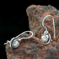 FREDA, Earrings, Pearl, Silver