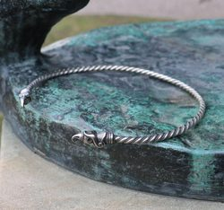 Huginn and Muninn, Viking Torc, silver