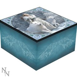 Winter Guardians - white wolf, Mirror Box, Anne Stokes