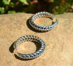 VIKING BRAIDED RING, Sterling Silver, Ag 925