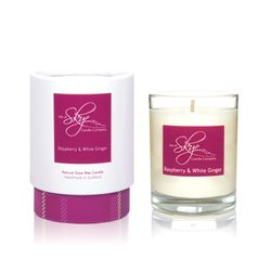 Raspberry and White Ginger Votive