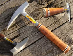 GEOLOGY ROCK HAMMER, leather grip, Estwing