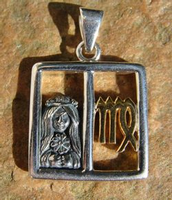 VIRGO, The Virgin, silver pendant