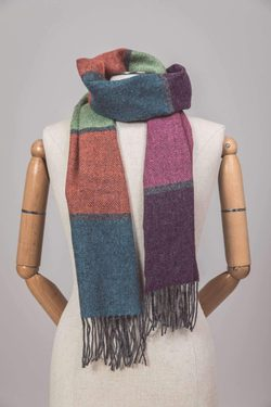 CONTEMPORARY STRIPE SCARF, lambswool