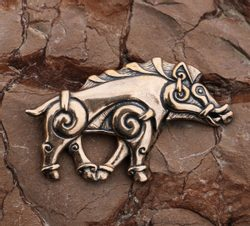 COLLACH - Celtic Boar bronze pendant
