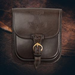 THOR'S HAMMER, Leather Belt Bag - brown