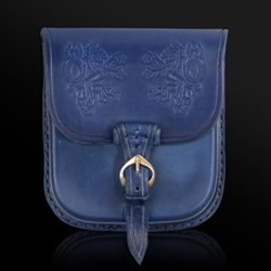 BOHEMIA, Leather Belt Bag - blue