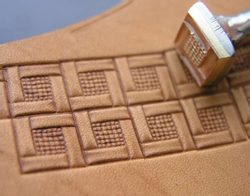 Quadratic Border, leather stamp