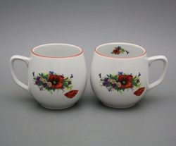 Poppies, Mug 0.3 l, Carlsbad porcelain