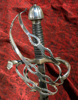 Danish officer rapier - Karde (thistle), sword
