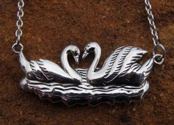 SWAN SILVER NECKLACE, SWAN JEWELLERY, SWAN JEWELS