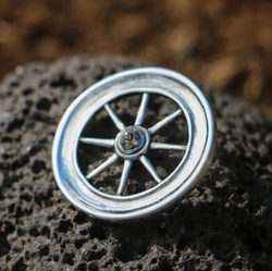 TARANIS WHEEL, Celtic replica, silver