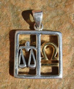 LIBRA, The Scales, silver pendant