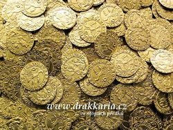 Bohemia, Charles IV 1346 – 1378 Ducat, brass coin replica