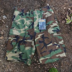 Battle Dress Uniform Shorts, woodland