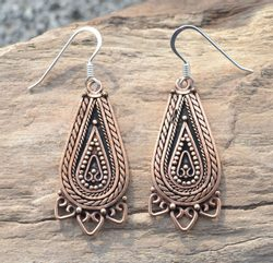 LADA, bronze Slavic earrings