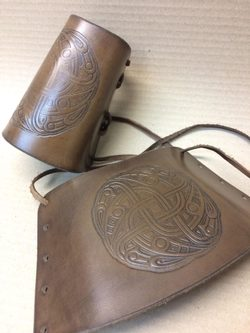VENDEL, leather bracers - pair