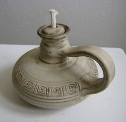 TABLE OIL LAMP, ceramic