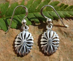 LITTLE FLOWERS, silver earrings, Ag 925