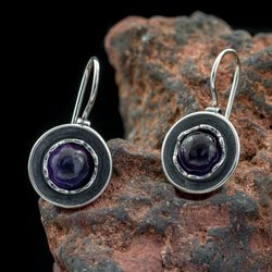 SALLY, Earrings, Amethyst, Silver